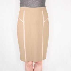REBECCA TAYLOR Tan Pencil Skirt 0407